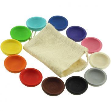 Набор Цветные тарелочки