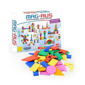 MAG-RUS Магнитная мозаика Здания и сооружения 54 эл NF1037