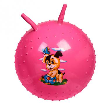 Детский массажный гимнастический мяч розовый DE 0542
