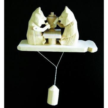 Медведи чаепитие Богородская игрушка 5610