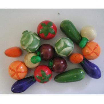 Овощи крашеные набор 16 шт Р-45/915