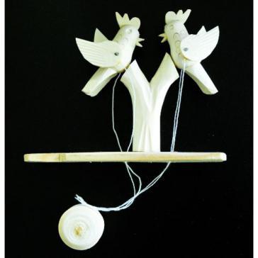 Птички на дереве Богородская игрушка 5613