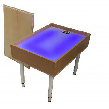 Стол для рисования песком Волшебная радуга с крышкой