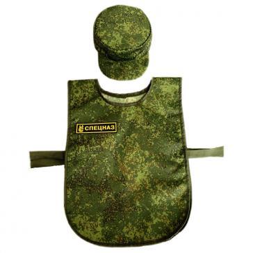 Костюм военного для сюжетно-ролевых игр с шапочкой КР09