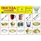 Демонстрационный плакат Посуда столовая