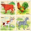 Животные фермы картинки разрезные Д330