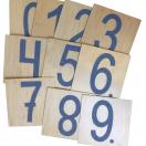 Комплект 10 тактильных панелей Цифры 472