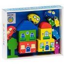 Конструктор Цветной городок синий 14 дет. 8688-6