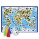 Настольная игра - ходилка Животный мир Земли 59x42 см