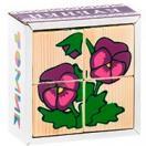 Кубики Сложи рисунок: цветочки 4 дет.