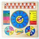 Обучающая доска Календарь с часами