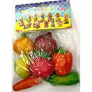 Набор Овощи пластизоль 08097