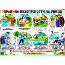 Дем. плакат ПРАВИЛА БЕЗОПАСНОСТИ НА УЛИЦЕ А2