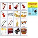 Музыкальные инструменты. 16 раздаточных карточек с текстом